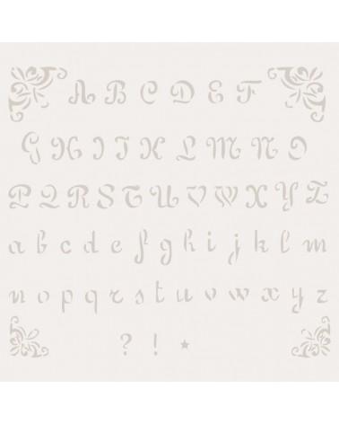 Stencil Abecedario 002