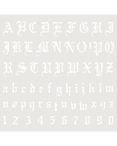 Stencil Abecedario 006
