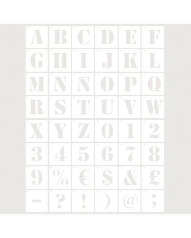 Stencil Abecedario 007-48un-5cm