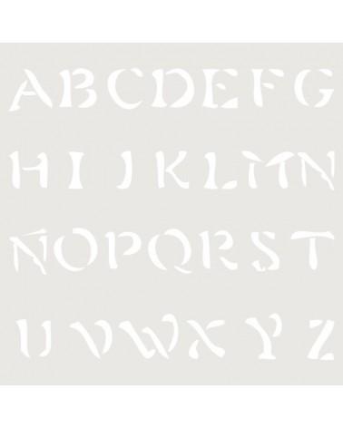 Stencil Abecedario 018