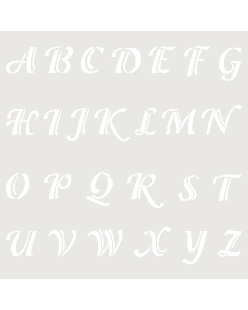 Stencil Abecedario 019