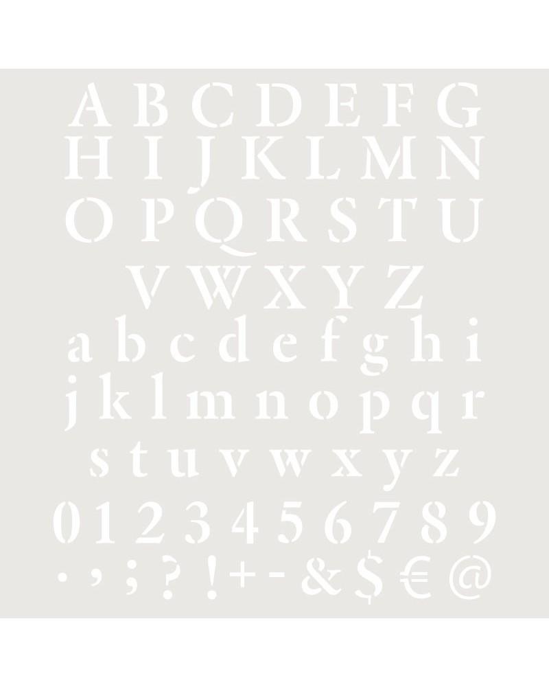 Stencil Abecedario 023