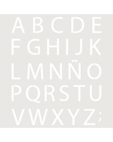 Stencil Abecedario 024