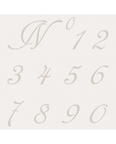 Stencil Abecedario Numeros 001