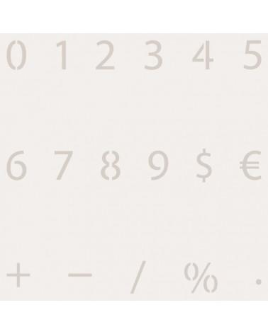 Stencil Abecedario Numeros 002