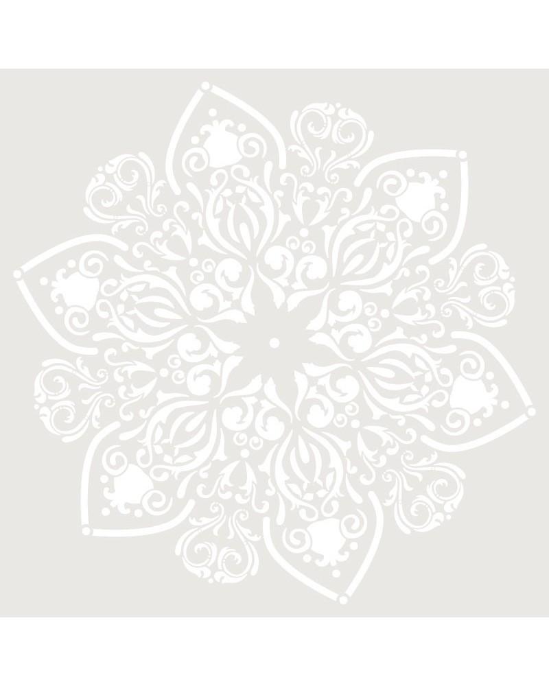 Stencil Adamascado 069 Mandala