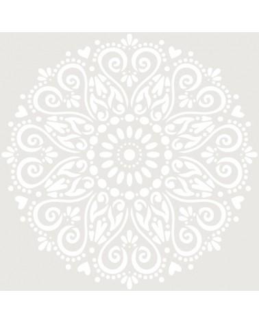 Stencil Adamascado 072 Mandala