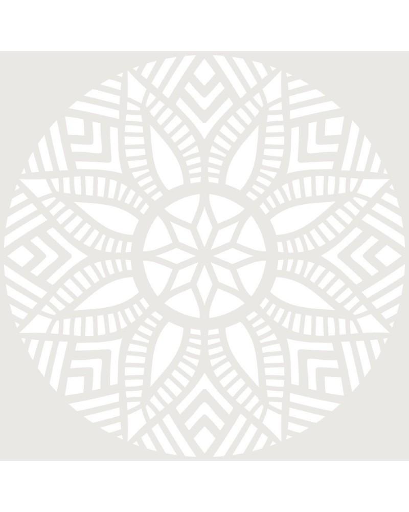 Stencil Adamascado 077 Mandala