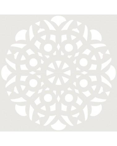 Stencil Adamascado 078 Mandala