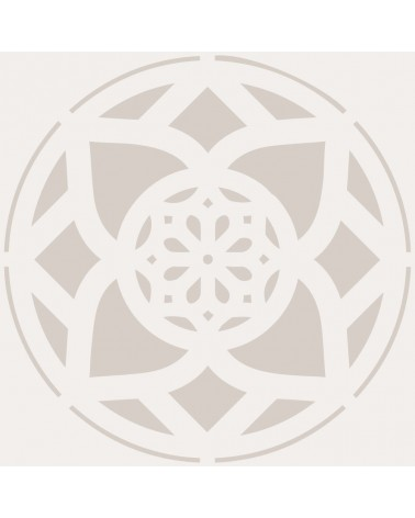 Stencil Adamascado 079 Mandala
