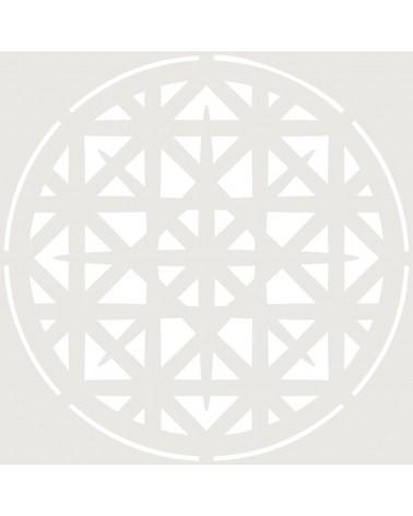 Stencil Adamascado 081 Mandala