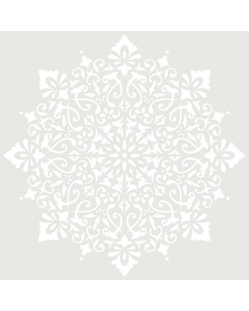 Stencil Adamascado 088 Mandala