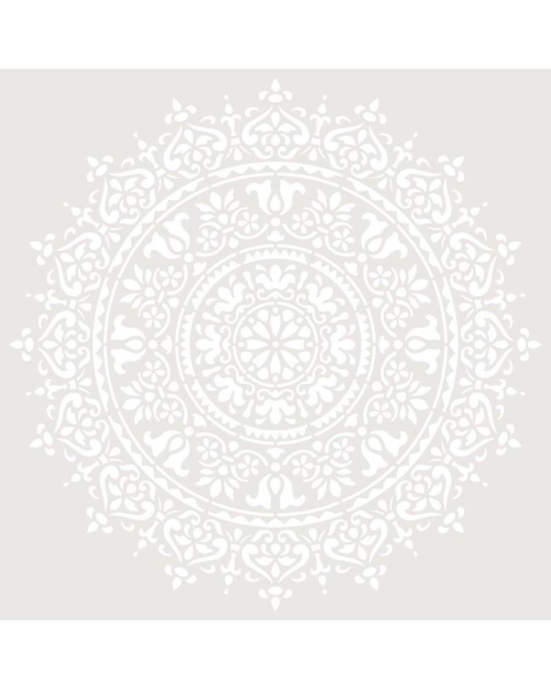 Stencil Adamascado 093 Mandala
