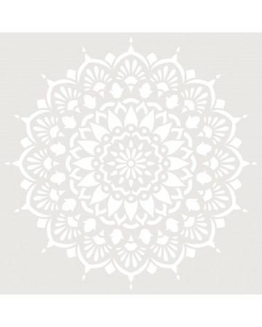 Stencil Adamascado 094 Mandala