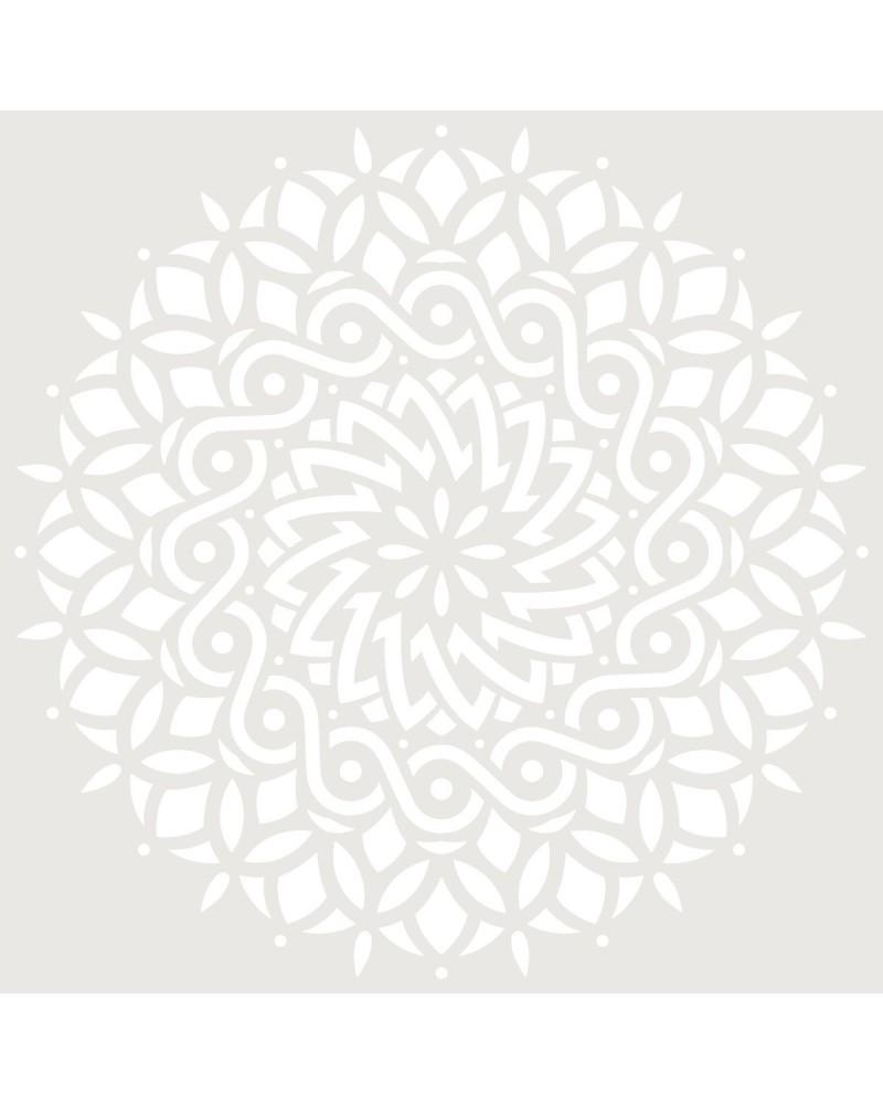 Stencil Adamascado 095 Mandala