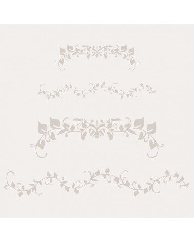 Stencil Cenefa 013 Floral