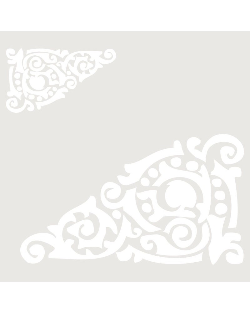 Stencil Cenefa 015 Esquina Dos Tamaños