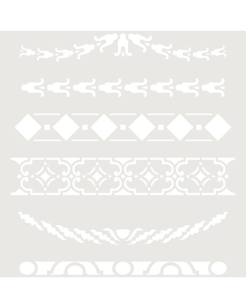 Stencil Cenefa 036 Seis modelos