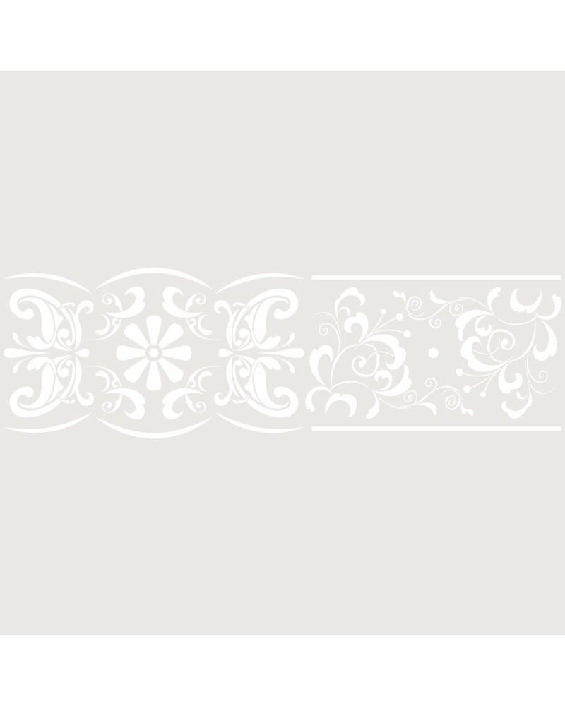 Stencil Cenefa 044 Franja Floral
