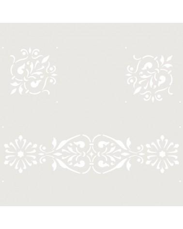 Stencil Cenefa 049 Floral