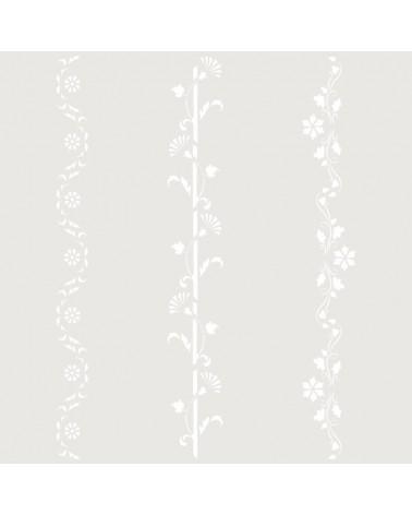 Stencil Cenefa 050 Tres Florales