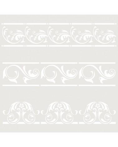Stencil Cenefa 054 Tres Florales