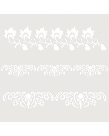 Stencil Cenefa 055 Tres Florales