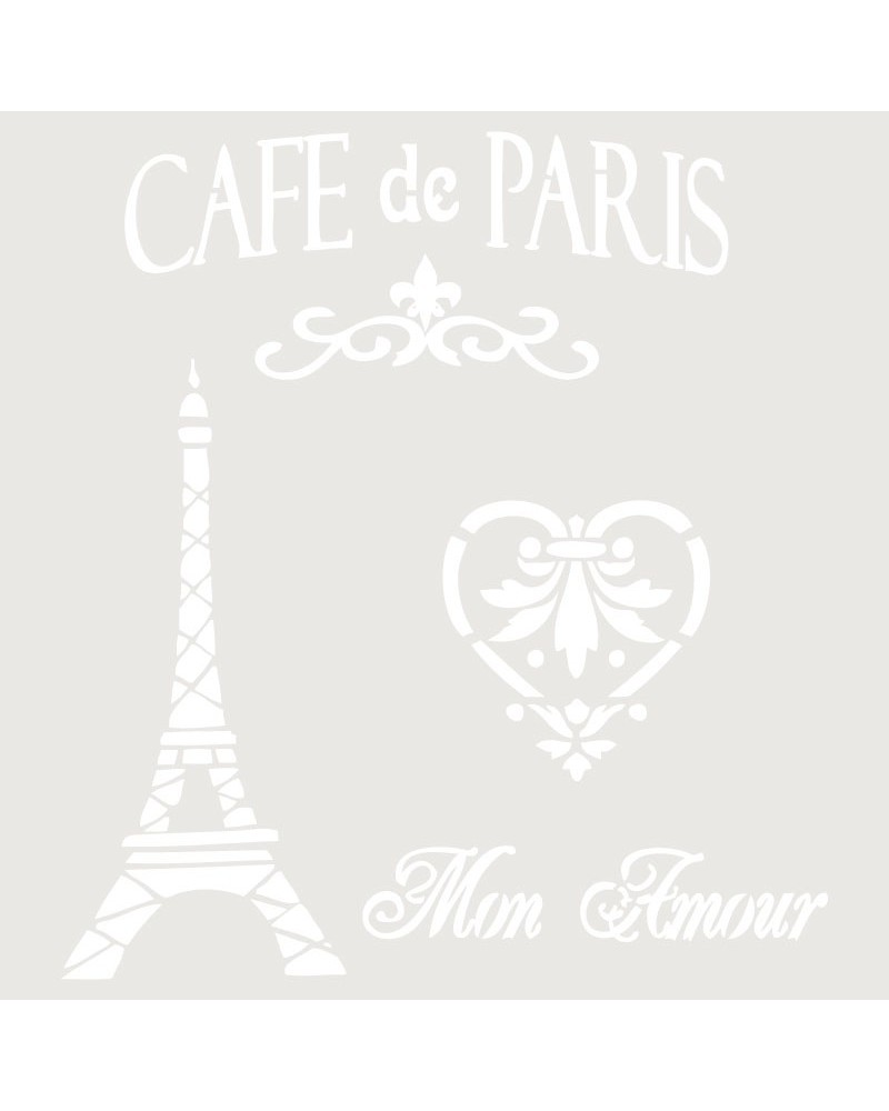 Stencil Composicion 001 Cafe Paris
