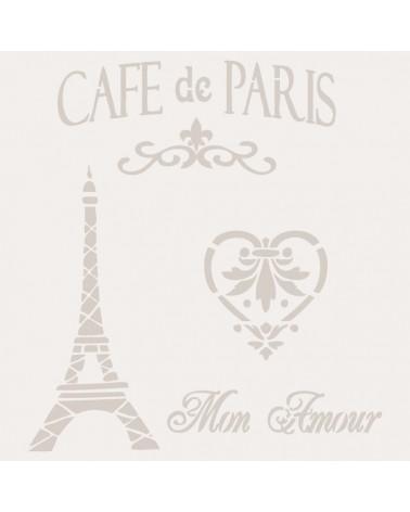 Stencil Composicion 001 Cafe Paris