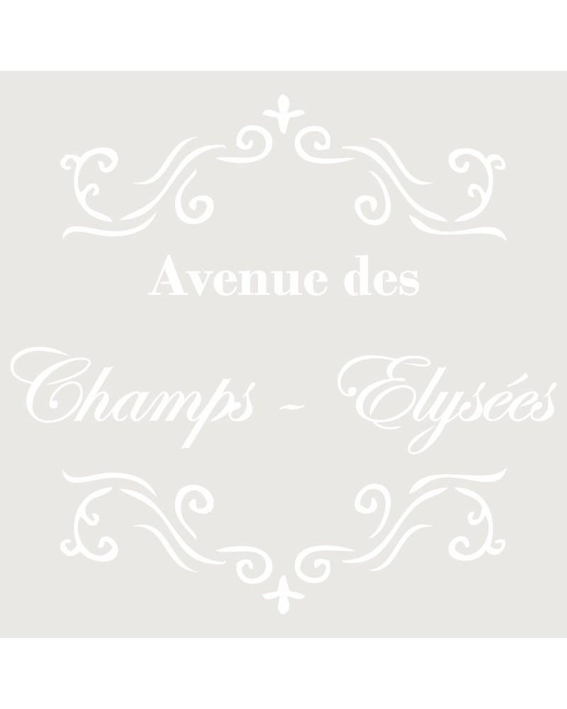 Stencil Composicion 004 Avenue Des Champs