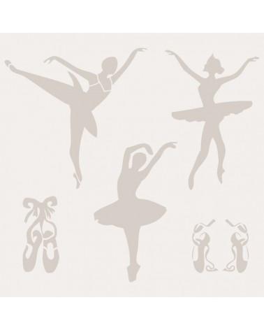 Stencil Composicion 005 Bailarinas