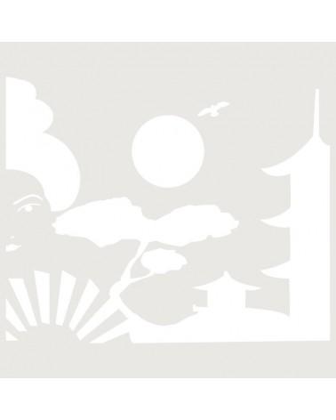 Stencil Composicion 006 Geisha