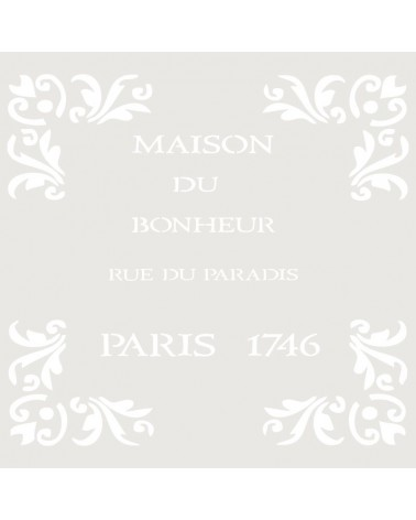 Stencil Composicion 011 Maison
