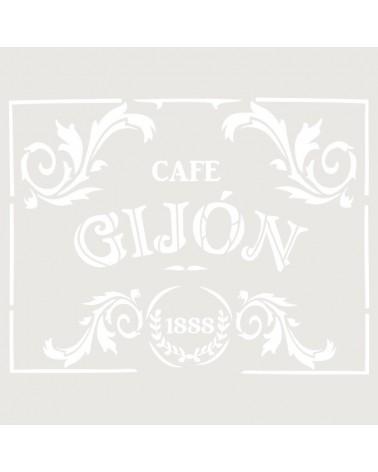Stencil Composicion 012 Cafe Gijon