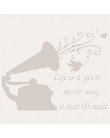 Stencil Composicion 017 Gramofono