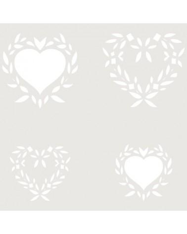 Stencil Composicion 023 Corazones