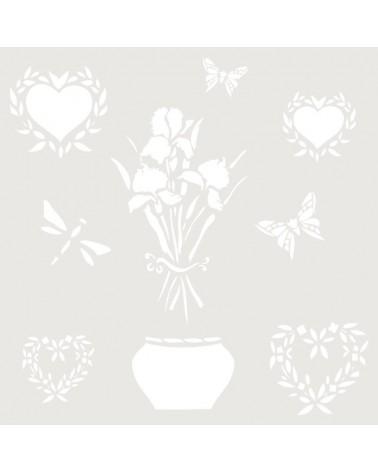 Stencil Composicion 024 Maceta