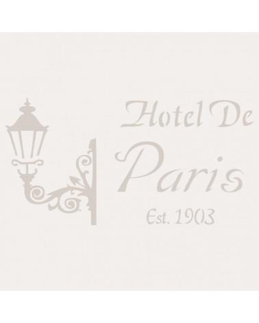 Stencil Composicion 027 Hotel Paris