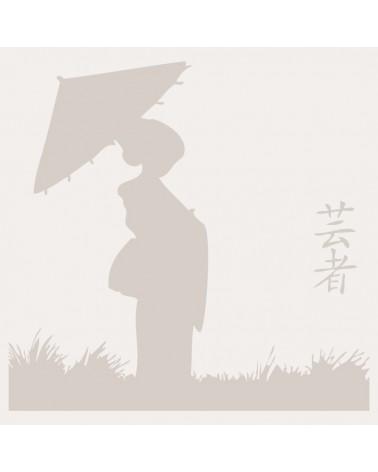 Stencil Composicion 028 Geisha