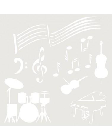 Stencil Composicion 043 Musica