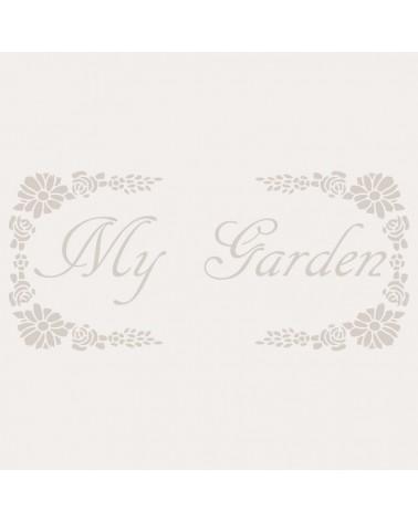 Stencil Composicion 044 My Garden