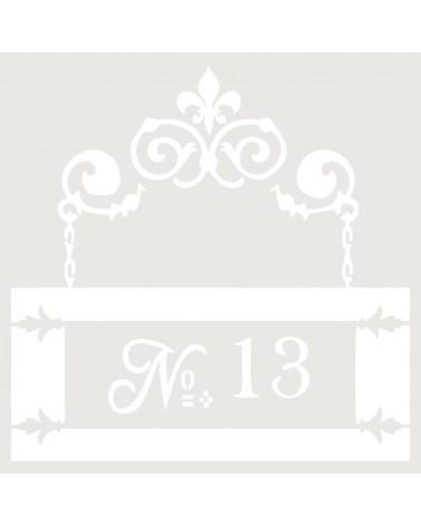 Stencil Composicion 045 Numero 13