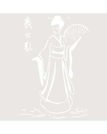Stencil Composicion 049 Geisha Abanico