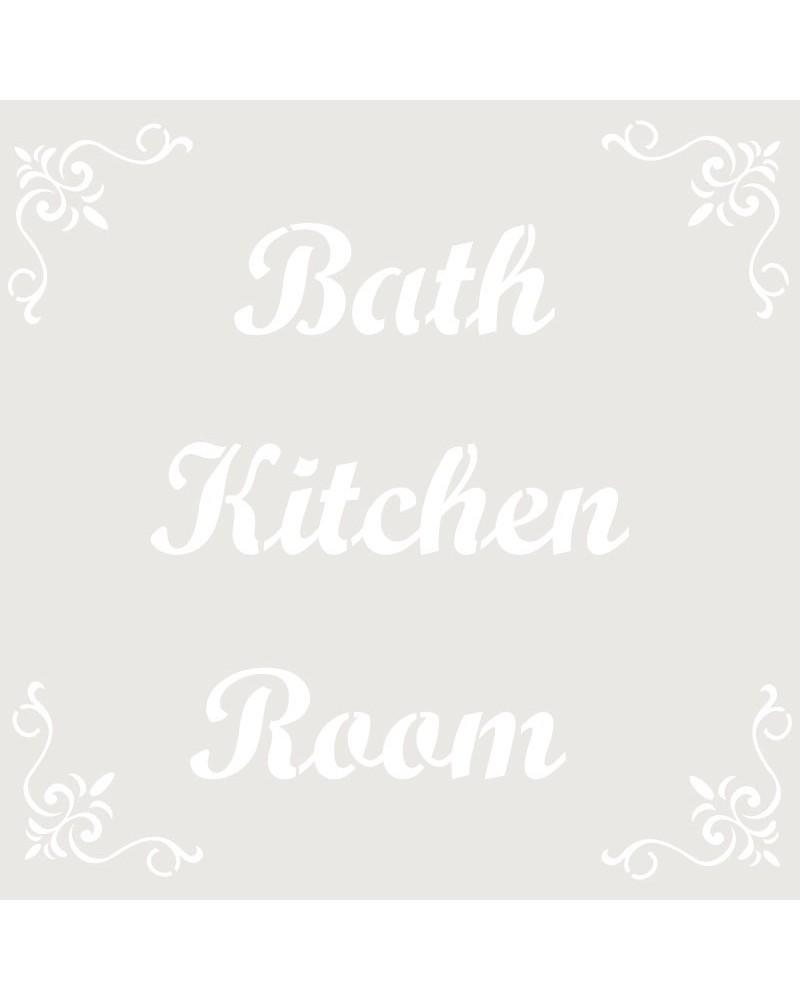 Stencil Composicion 051 Bath