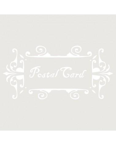 Stencil Composicion 053 Postal Card