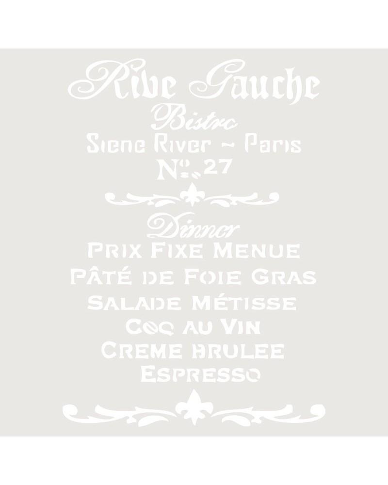 Stencil Composicion 064 Rive Gauche