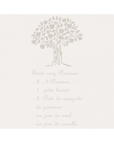 Stencil Composicion 074 Tarte Aux Pomes