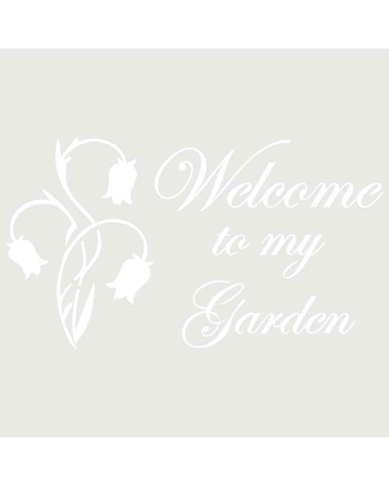 Stencil Composicion 079 Welcome Garden