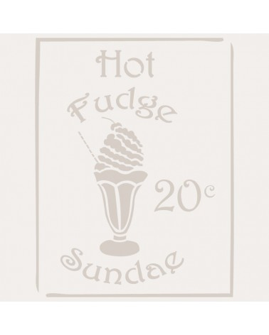 Stencil Composicion 082 Hot Fudge