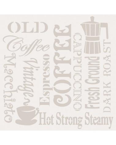 Stencil Composicion 091 Cafe